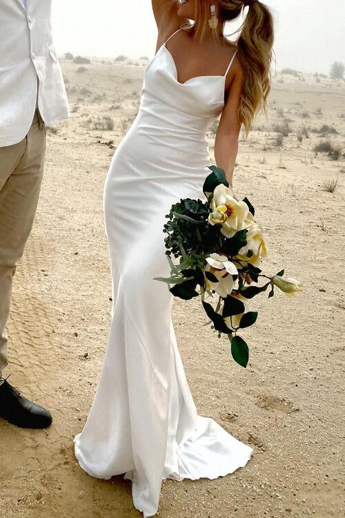 simple-sheath-white-wedding-dresses-with-thin-straps