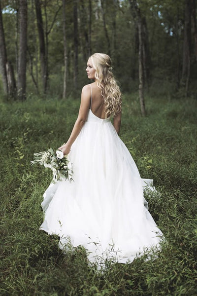simply-satin-backless-forest-themed-wedding-dresses-with-organza-skirt