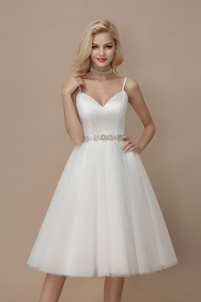 simply-short-informal-wedding-dress-spaghetti-straps