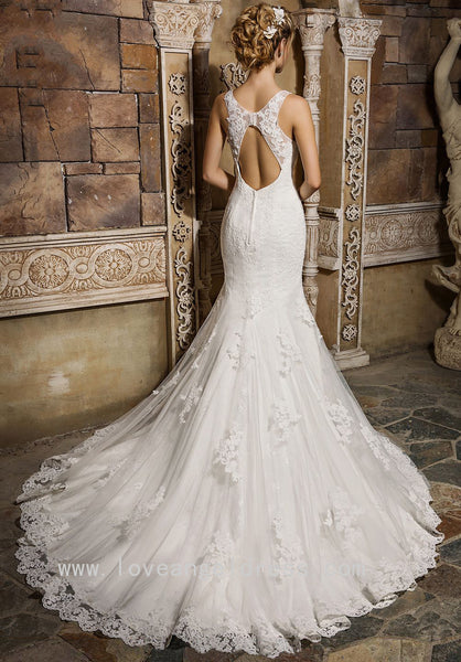 sleeveless-appliques-lace-wedding-gowns-mermaid-vestido-de-boda-1
