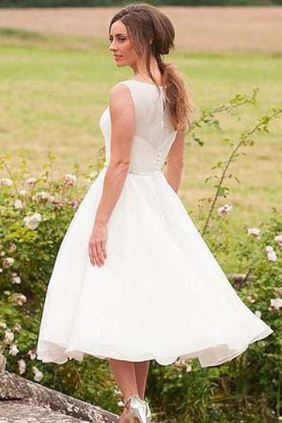 sleeveless-bride-short-casual-wedding-dress-with-beaded-belt