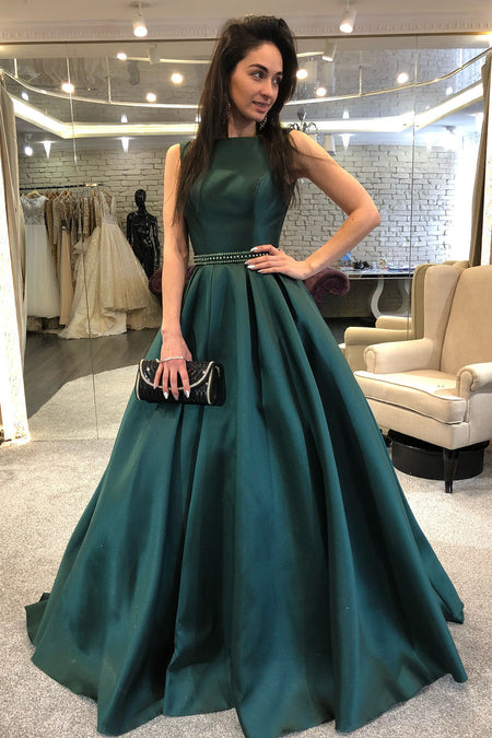 3810adcb84a Rose Gold Sequin Prom Dresses with Deep V-neckline vestido de formatura.  loveangeldress Sleeveless Dark Green ...