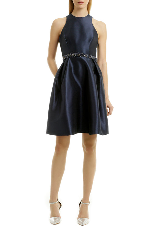 sleeveless-navy-satin-homecoming-gown-with-beaded-belt