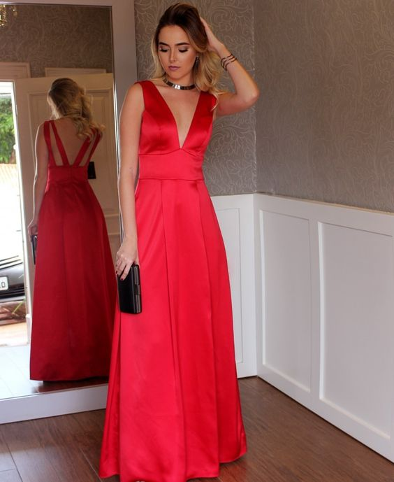 sleeveless-satin-v-neck-red-long-simple-prom-dresses-1