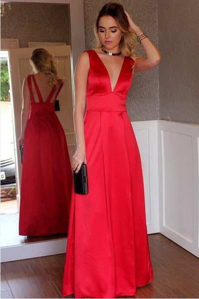 sleeveless-satin-v-neck-red-long-simple-prom-dresses