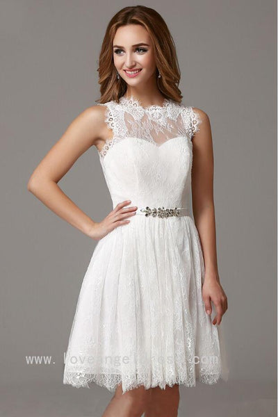 sleeveless-short-lace-little-white-dress-for-homecoming-party