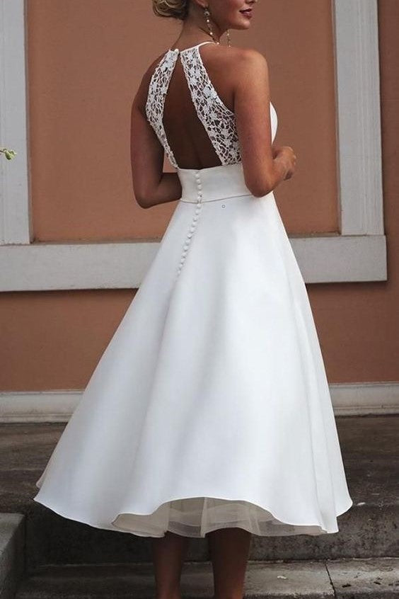 sleeveless-tea-length-wedding-dress-with-lace-hollow-back-1