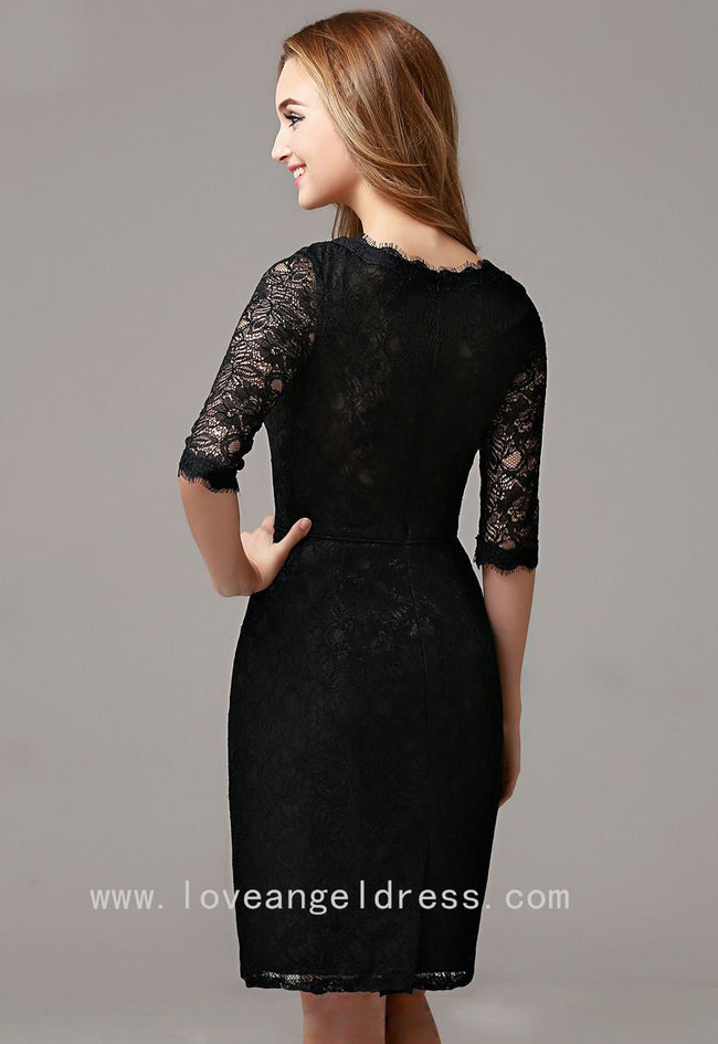 slim-short-black-lace-cocktail-dress-with-half-sleeves-vestido-de-coctail-1