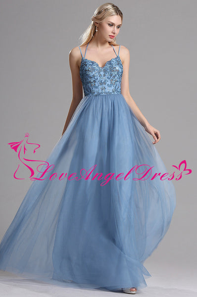 spaghetti-straps-a-line-tulle-blue-prom-long-dresses-with-lace-bodice