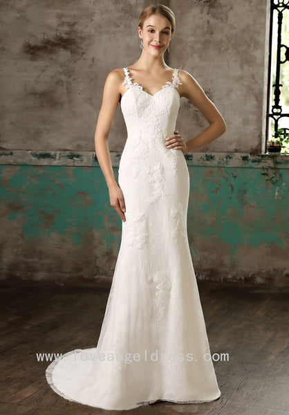spaghetti-straps-column-bride-lace-wedding-gown-with-detachable-skirt-2