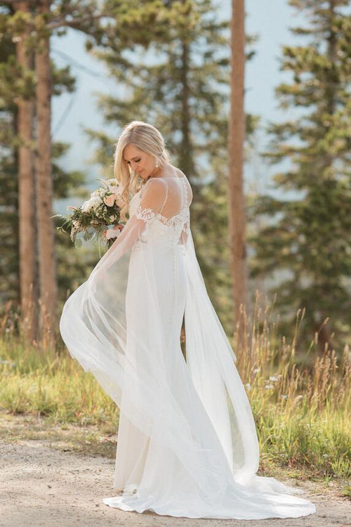 spaghetti-straps-destination-wedding-gown-with-detachable-long-shawl