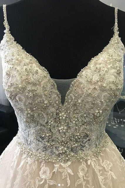 spaghetti-straps-ivory-wedding-gowns-with-pearls-beaded-bodice-1