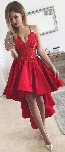 spaghetti-straps-red-hi-lo-prom-dress-with-lace-bodice-1