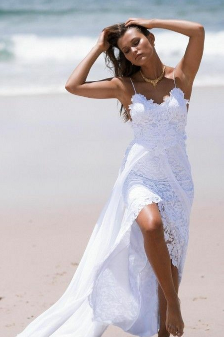 Plunging V-neck A-line Tulle Crystals Bridal Gown