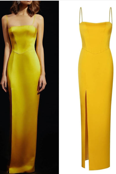 spangetti-straps-yellow-long-prom-dress-with-split