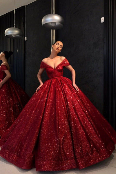 sparkling-sequin-red-ball-gown-prom-dress-off-the-shoulder-neckline