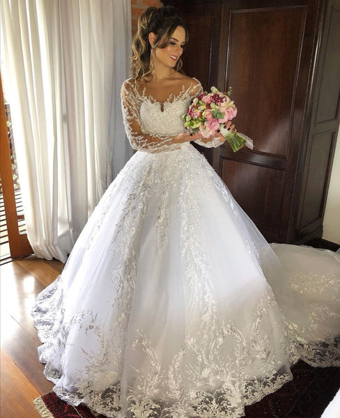 spread-lace-bridal-dresses-with-long-sleeves-vestido-de-noiva-de-renda-1