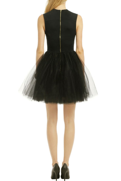 square-neck-black-short-homecoming-party-dress-with-tulle-skirt-1