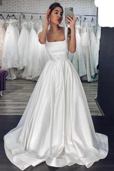 square-neck-satin-bridal-dress-with-wide-waistband