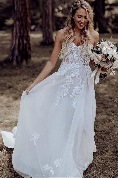 strapless-a-line-wedding-dress-with-appliques-bodice-1