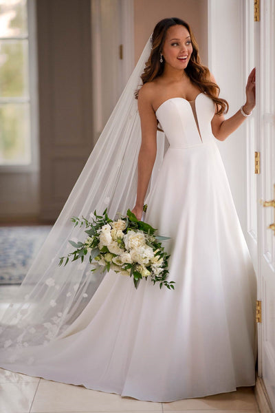 strapless-backless-satin-simple-wedding-gown-dress-with-dramatic-train-2
