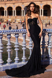 strapless-black-lace-evening-gown-vestido-de-fiesta-de-graduación
