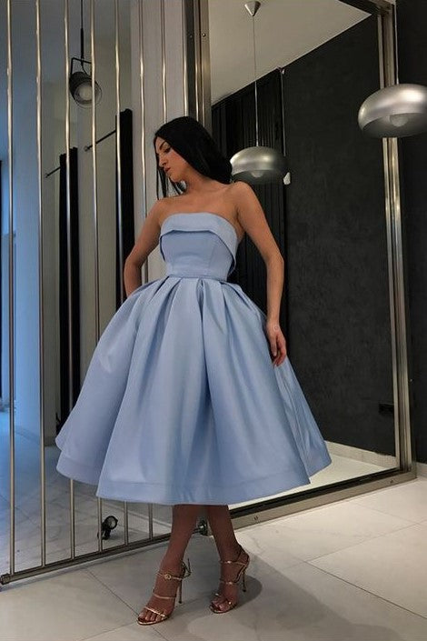 db23b73f9c strapless-blue-short-ball-gown-prom-wear-dresses