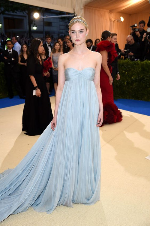 strapless-empire-waist-light-blue-chiffon-dresses-for-celebrity
