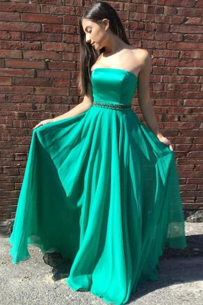 strapless-floor-length-chiffon-green-prom-long-dresses-with-bead-belt