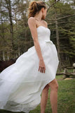strapless-hi-lo-organza-wedding-dress-with-bow-sash-1