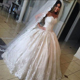 strapless-lace-ball-gown-wedding-dresses-with-corset-back-1