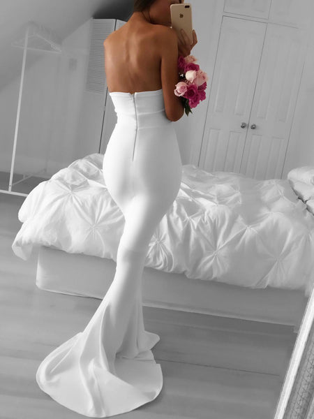 strapless-mermaid-simple-white-prom-dress-with-sweep-train-1