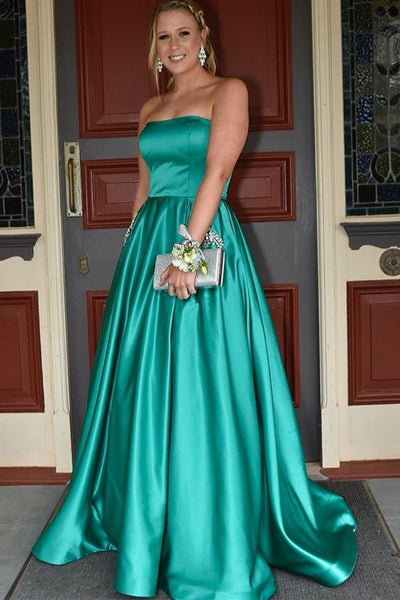 strapless-satin-backless-green-prom-long-dress-with-stones-pockets