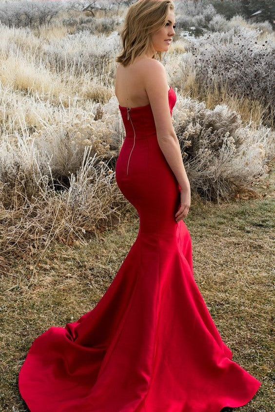 3b5859599e strapless-satin-backless-red-prom-dresses-mermaid-style-