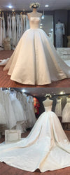 strapless-satin-corset-backless-wedding-dresses-with-cathedral-train-2