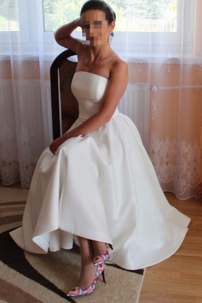 strapless-satin-high-low-wedding-dress-backless-1