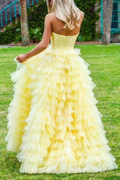 strapless-satin-yellow-prom-ball-gown-dress-with-tulle-tiered-skirt-1