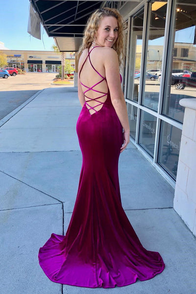 strappy-back-fuchsia-velvet-evening-and-prom-dress-v-neckline