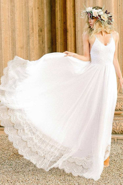 strappy-summer-bride-wedding-gown-with-lace-hem