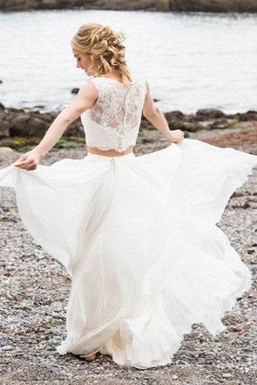 summer-two-piece-wedding-dress-with-lace-separates-top-1