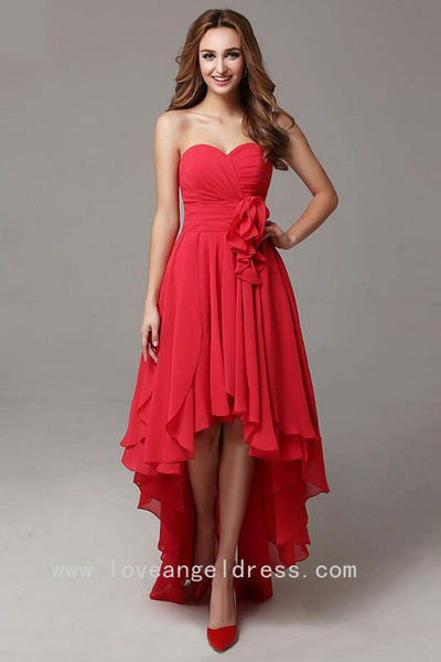 sweetheart-chiffon-high-low-prom-dresses-with-flower-sash