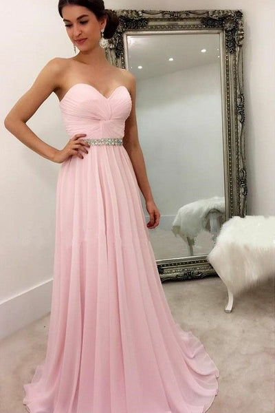 sweetheart-chiffon-pink-formal-party-dress-with-rhinestones-belt