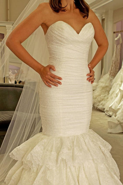 sweetheart-mermaid-lace-wedding-dress-backless-tiered-skirt-1