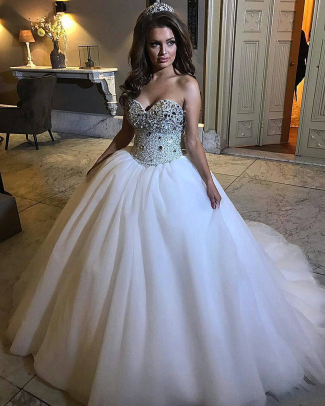 sweetheart-rhinestones-wedding-dress-ball-gown-2020-1