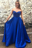 sweetheart-royal-blue-satin-prom-gowns-with-beaded-bodice-vestido-de-fiesta
