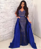 sweetheart-sapphire-blue-lace-prom-dresses-with-satin-skirt