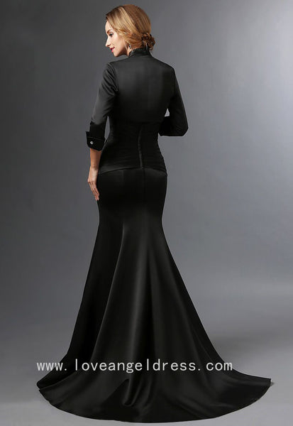 sweetheart-satin-black-mermaid-mother-of-the-groom-dress-with-bolero-3