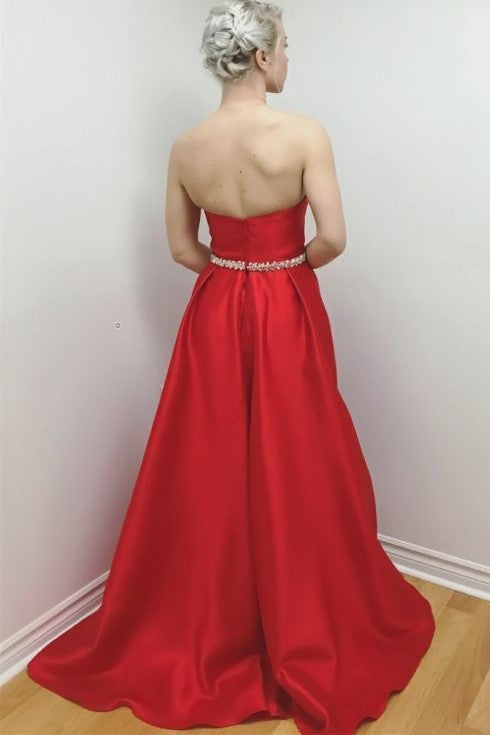 sweetheart-satin-red-long-prom-dresses-with-beaded-belt-2019-1
