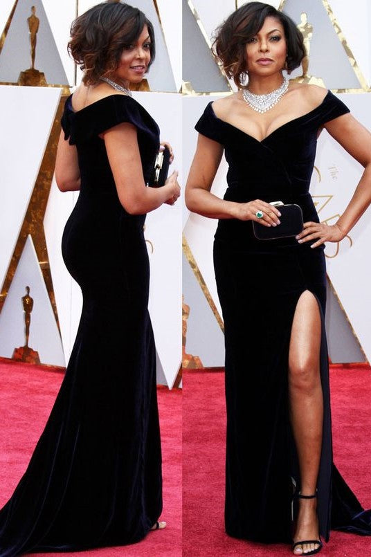 taraji-p.-henson-celebrity-dresses-velvet-off-the-shoulder-gown-1