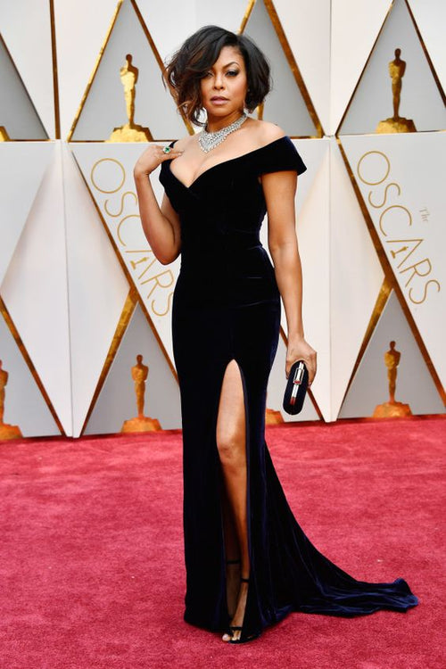 taraji-p.-henson-celebrity-dresses-velvet-off-the-shoulder-gown